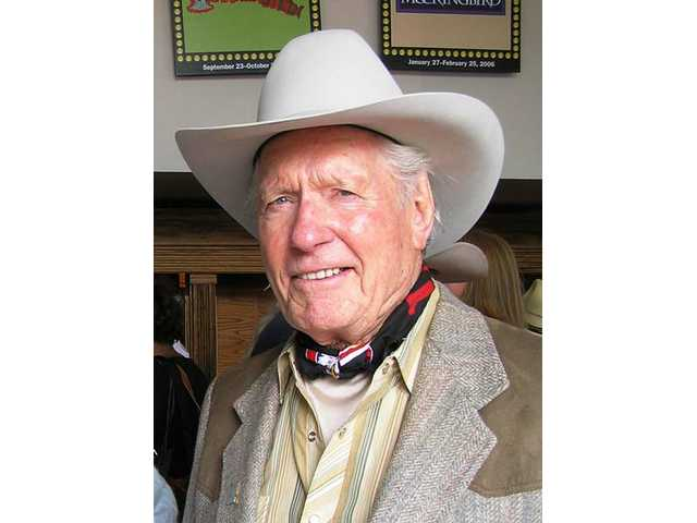 A video tribute to the late stuntman/actor Jack Williams, a 2005 Walk of Western Stars inductee, will be part of the 2008 Walk of Western Stars induction gala and dinner at the Hyatt Valencia. Williams is pictured in Old Town Newhall in April 2006.