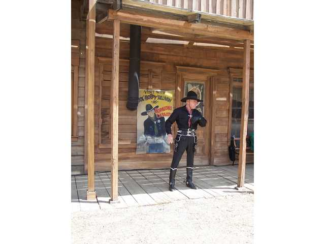 You never know who you'll meet at the Cowboy Festival. Joe Sullivan portrays Hopalong Cassidy at the 2008 Cowboy Festival.