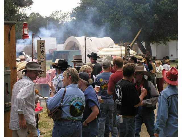 The Gold Rush Food Court is THE place to chow down on BBQ and Cowboy Cobbler at the Santa Clarita Cowboy Festival.