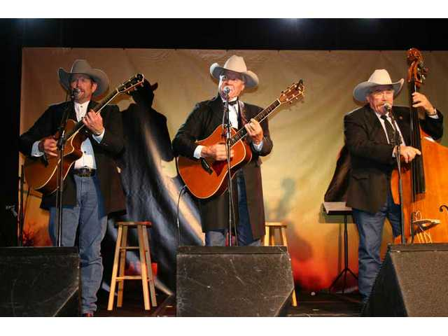The Sons of the San Joachin, pictured onstage at the 2007 Western Walk of Stars induction gala, return to perform on the main Melody Ranch Stage at the 2008 Cowboy Festival in Santa Clarita.