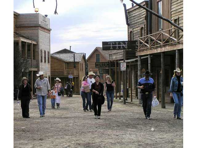 Here's the scene on Main Street at Melody Ranch Motion Picture Studio during the 2007 Cowboy Festival in Santa Clarita.