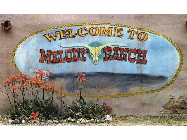 This mural on the wall near the entrance to Melody Ranch, photographed in 2006, looks more weathered now.