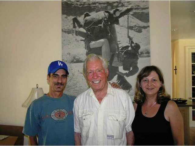 Jack Williams and his wife Clare welcomed the author and his wife Nadine on a visit to the Williams' Agua Dulce home in May 2005, a couple weeks after Jack was inducted into the Walk of Western Stars in Newhall.