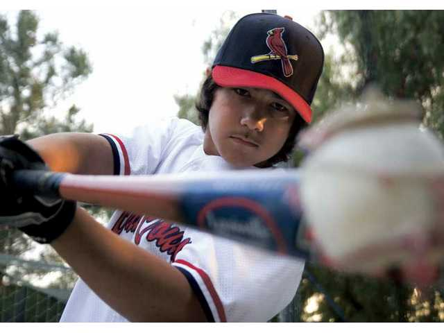 While dealing with diabetes, Billy Fredrick plays in Canyon Country Little League baseball and with two travel teams. Next fall, he will attend Golden Valley High School to continue his career.