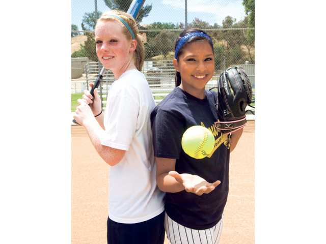 Sophomore Lauren Rose, left, and Ashley Imperial didn't get much playing time in their high school careers, but both are helping lead the College of the Canyon's softball team to a conference title.