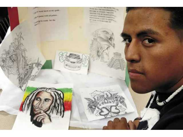 Golden Valley High School senior Alejandro Angeles for created a project about the American Dream that highlights his love of art and how he desires to continue on with his art beyond high school.