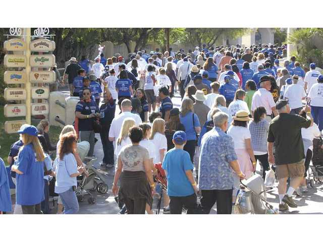 Hundreds of walkers participated in the Arthritis Walk at Six Flags Magic Mountain on Sunday. This year's event was the fifth annual fundraiser for the Arthritis Foundation and was hosted at the amusement park for the first time.