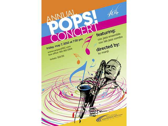 College of the Canyons' Studio Jazz Ensemble and Lab Jazz Combo will host their annual POPS! Concert at the Santa Clarita Performing Arts Center on Friday, May 7 at 7:30 p.m.