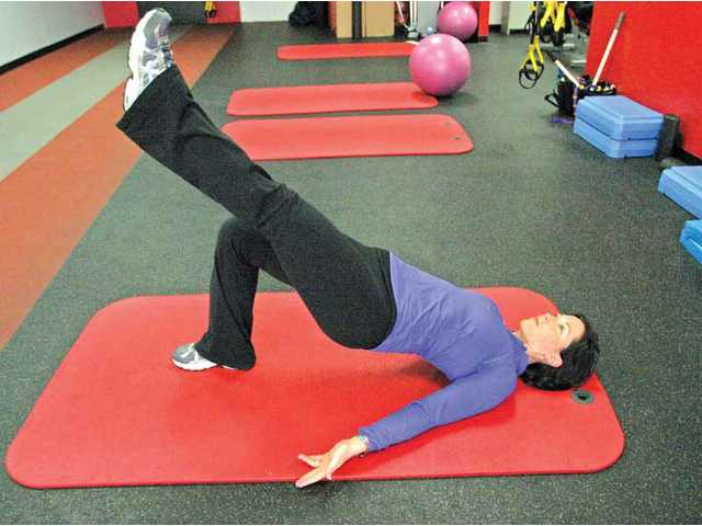 The hip-extension exercise is a move to get an active stretch of your hip flexors, engage your core and switch on your butt muscles.