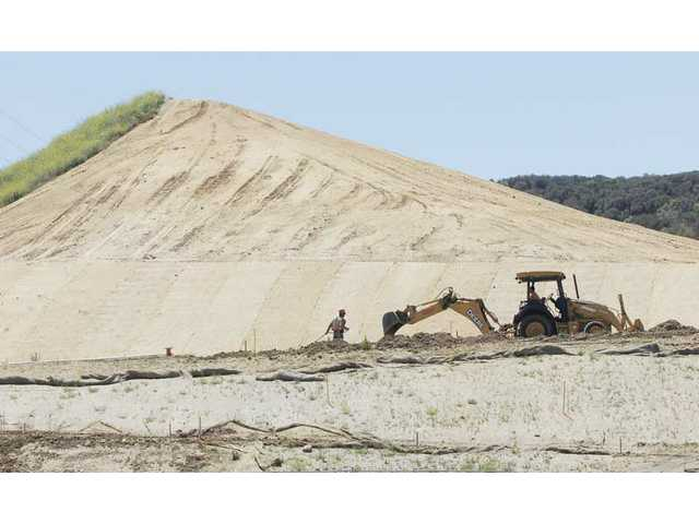 Landscaping and construction continues on Phase 4 of the Santa Clarita Activities Center on Wednesday.