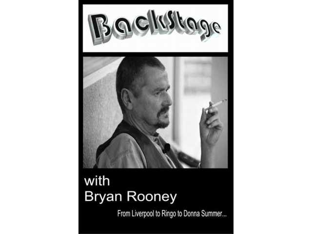 "Here's the cover of ""Backstage with Bryan Rooney: From Liverpool to Ringo to Donna Summer."""