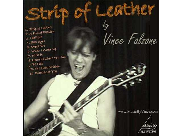 "Vince Falzone's ""Strip of Leather"" album is now available."