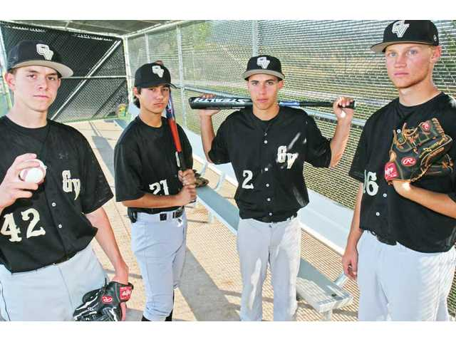 Thanks to the efforts of Golden Valley players such as, from left to right, Scott Barlow, Billy Fredrick, Riley Sherwood and Josh Smith, the Grizzlies have made the most dramatic turnaround in the Foothill League over the last 10 years, winning six of their last nine league contests.