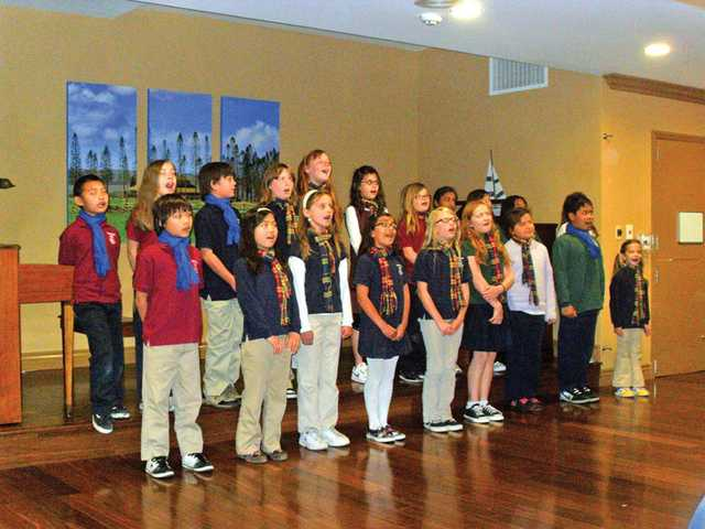 About 25 choir students from Pinecrest Valencia recently performed for the residents at Pacifica Assisted Living in Newhall. The third-, fourth- and fifth-graders organized the performance as way to reach out to the community and share their talents. Future performances are already planned at Pacifica Assisted Living thanks to the first show's success.