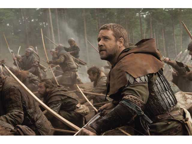 "Russell Crowe is shown in a scene from ""Robin Hood."" The Universal Pictures' film opens today locally."