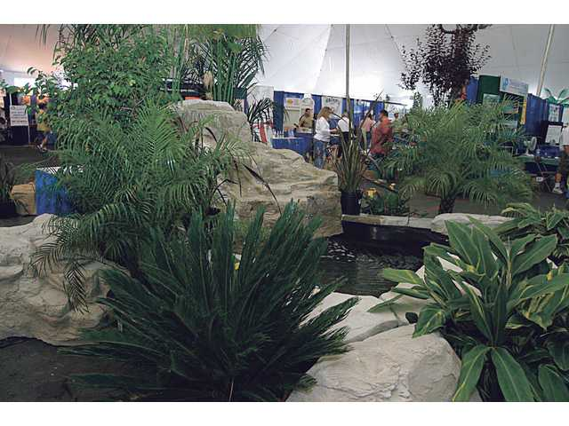 Among the displays at previous Home & Garden Shows at the Saugus Speedway on Soledad Canyon are ponds and fountains.
