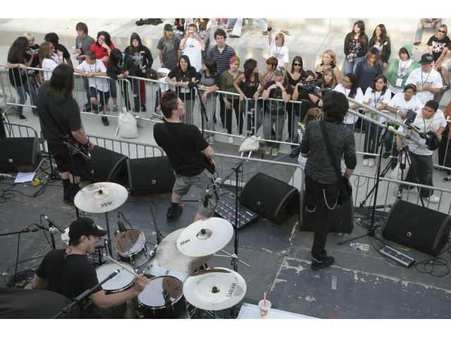 Mission:Black accomplishes meltdown at Golden Valley High's outdoor amphitheater.