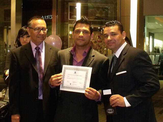 From left to right: Bob Pacheco, SCV Latino Chamber president/founder; Gabriel Henao, secretary; andRaul Alberto, vice president/founder.