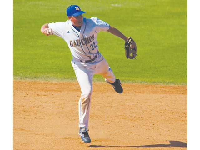 University of California, Santa Barbara senior shortstop Shane Carlson fields the ball in this undated photo.