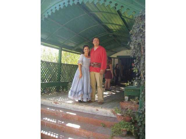 """Actors portray Ramona and Alesandro from """"Ramona"""" at Rancho Camulos. A reenactment of the fictional story is held there every year. The movie """"Ramona,"""" staring Mary Pickford, was shot at Rancho Camulos 100 years ago."""