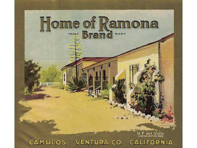 Produce grown on the rancho used to carry labels such as this one.