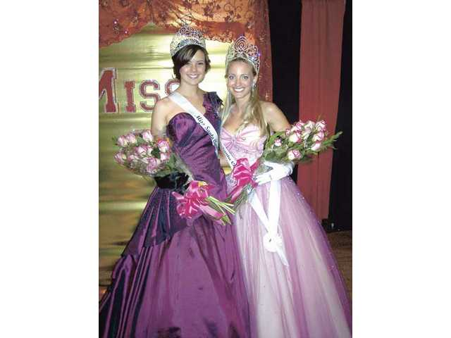 Left to right, Miss SCV Nicole Steinfeld and Mrs. SCV Amanda Higgins. The 29th annual Miss SCV Scholarship Pageant was held Friday at the Plaza Banquet hall in Newhall. The pageant attracted 25 contests who competed for Little Miss SCV, Miss Teen SCV, Miss SCV and Mrs. SCV. In addition, community queens were also crowned.