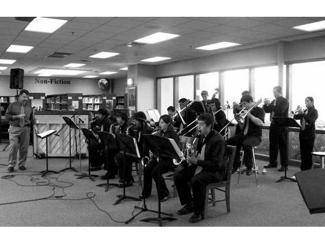 Golden Valley High Jazz I, with director Roger Brooks at left.