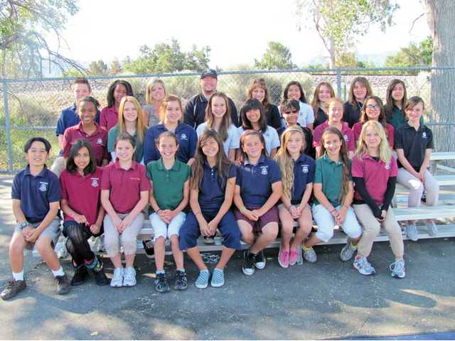 Student council officers from Pinecrest School, a middle school in Canyon Country, won the Certificate of Excellence from the Honor Student Council School of Excellence.