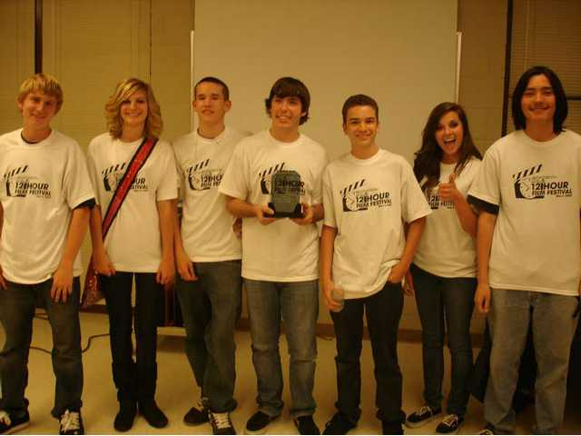 The Silver-division winners from Saugus High School, left to right, Saugus students Jacob Dagg, Katie Floyd, Thomas Hess, Nicolas Romano, Mitchell Braxton, Sophia Valentine and Daniel Leary.