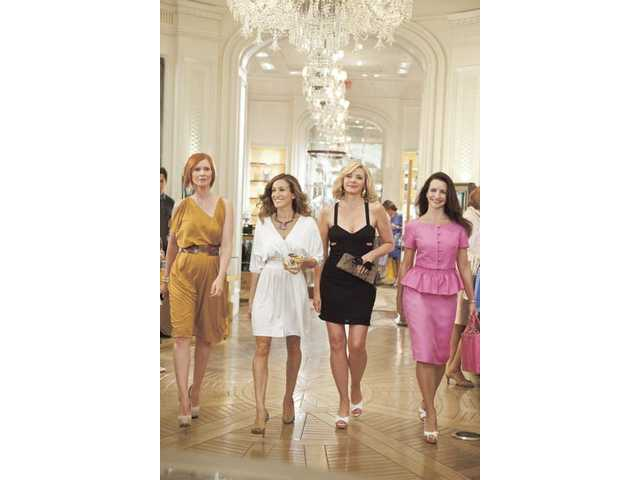 "From left, Cynthia Nixon, Sarah Jessica Parker, Kim Cattrall and Kristin Davis in ""Sex and the City."""