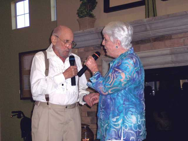 "Jerry Lench and Jean Rawls sing in duet ""Make Believe."""