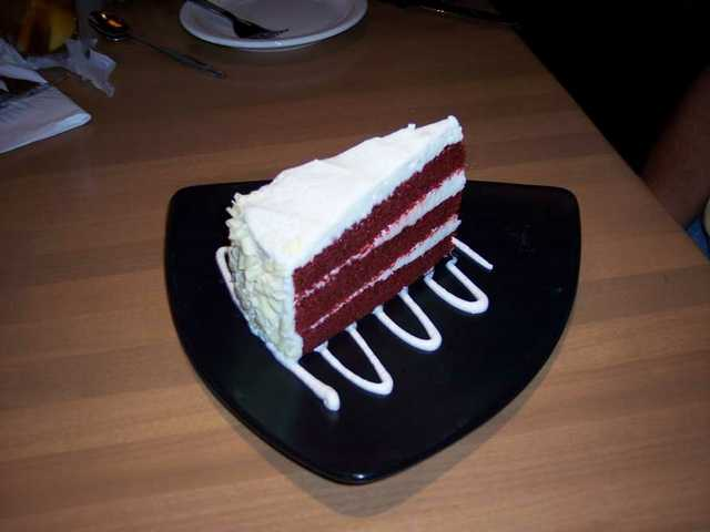 Red Velvet Cake at California Pizza Kitchen is three layers of love.