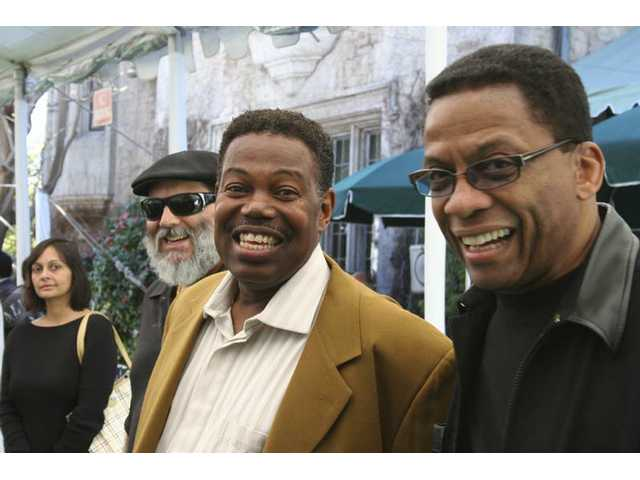 From left: Pancho Sanchez, Leon Ndugu Chancler and Herbie Hancock are among the performers taking the Hollywood Bowl stage during the 30th anniversay Playboy Jazz Festival June 14-15, 2008.