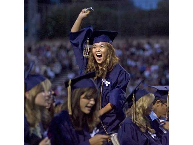 Sharon Lee was one of 601 graduates receiving their diplomas Friday evening at Cougar Stadium as West Ranch High School celebrated the graduation of the class of 2009.