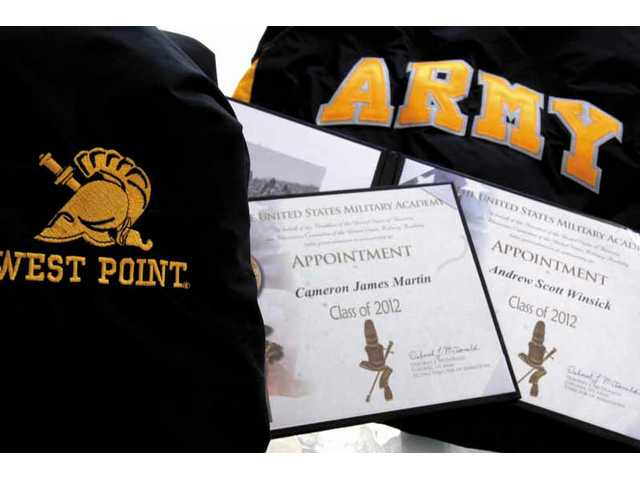 The official West Point appointment letters for Saugus High students Cameron Martin and Andrew Winsick.