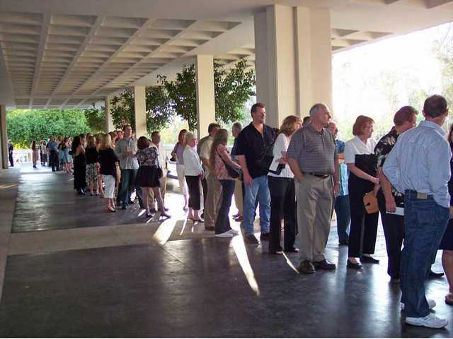 Guests line up before the doors open for the 22nd Wine Classic to benefit the SCV Youth Orchestra.
