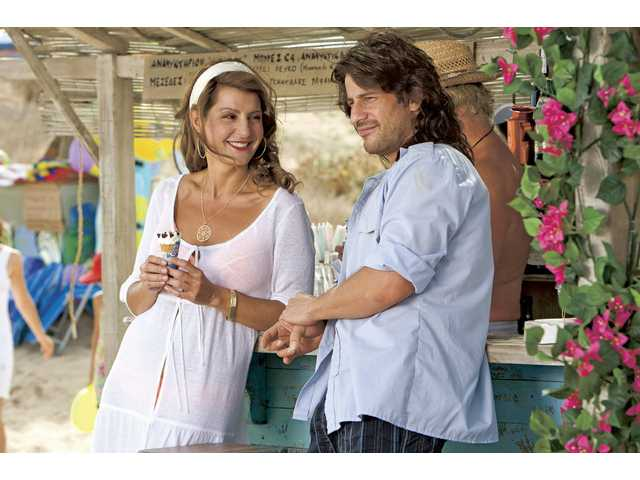 "Nia Vardalos, left, and Alexis Georgoulis are shown in a scene from, ""My Life in Ruins."""