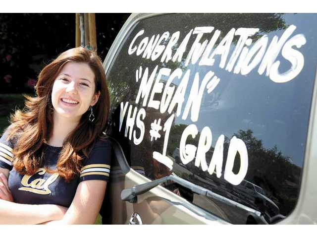 Valencia High School's top grad, Megan Del Vecchio, cites her mother as the inspiration behind her success. She plans to attend UC Berkeley this fall.