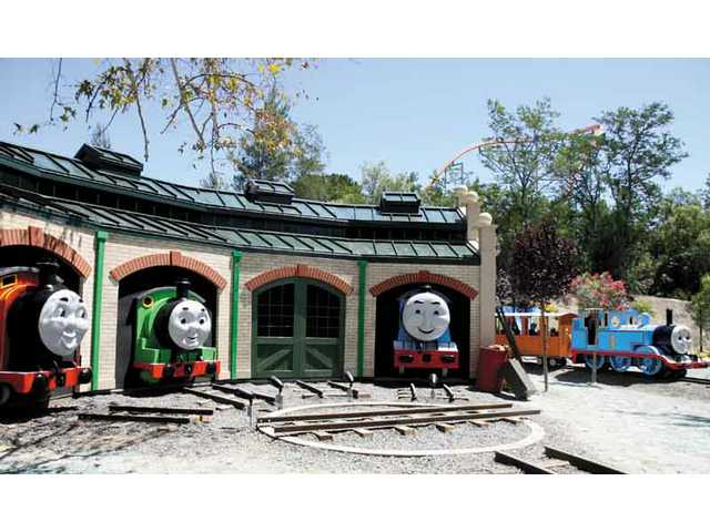 Six Flags Magic Mountain unveiled Thomas the Tank Engine ride which is set in Thomas Town, a new area based on the famous children's animated series.