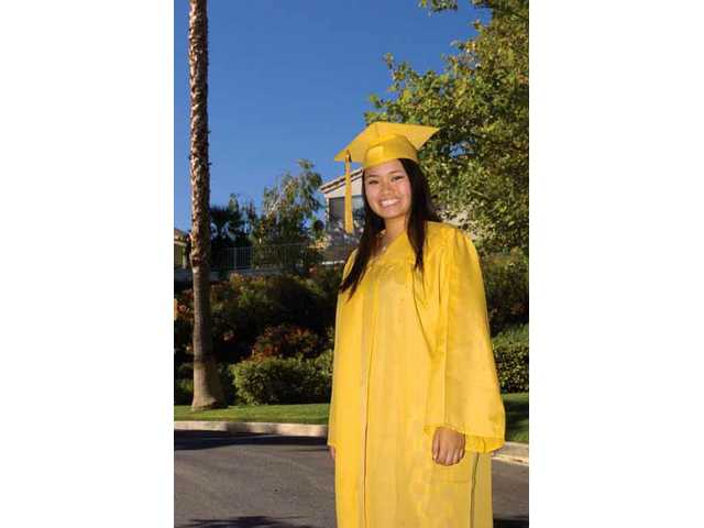 Jennie Wu is the top graduate this year of West Ranch High School. She plans to attend college in Pennsylvania this fall.
