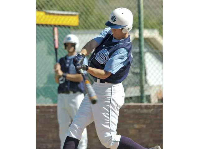 Casey Stevenson looks at a pitch as a senior at Saugus High in 2006. Stevenson was selected in the 38th round by Milwaukee and now must decide whether to sign or return to school.