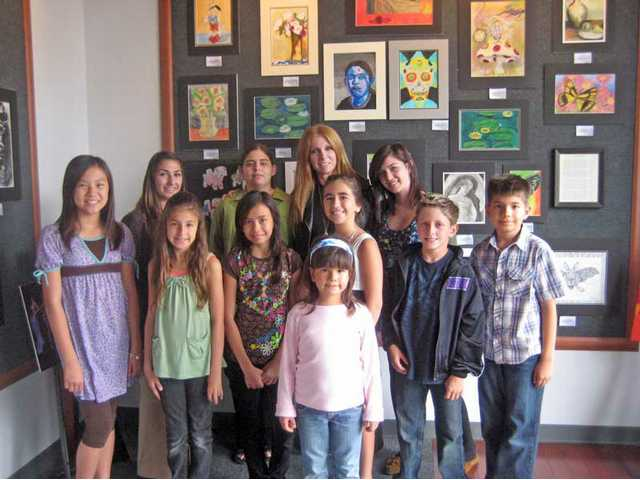 Local young artists show off their creations at Fast Frame in Valencia. The students take lessons with Janet Recchia of Janet Recchia Studios in Valencia. The artwork will be available for viewing at Fast Frame until the end of the month.