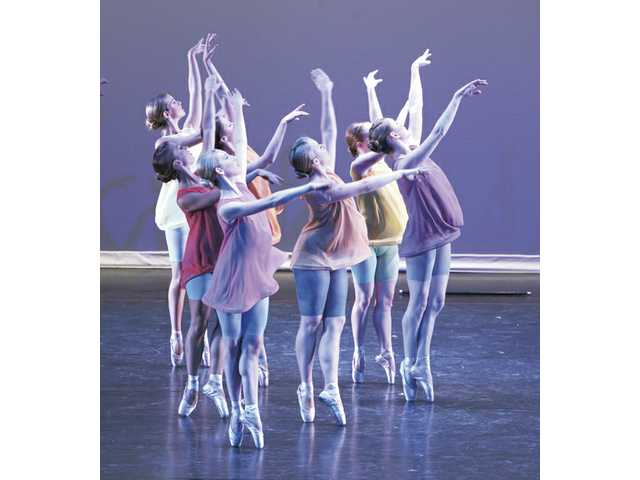 "Dancers of the Santa Clarita Ballet Company perform in ""G Song"" during the 2008 June program at the Santa Clarita Performing Arts Center on the Valencia campus of College of the Canyons."