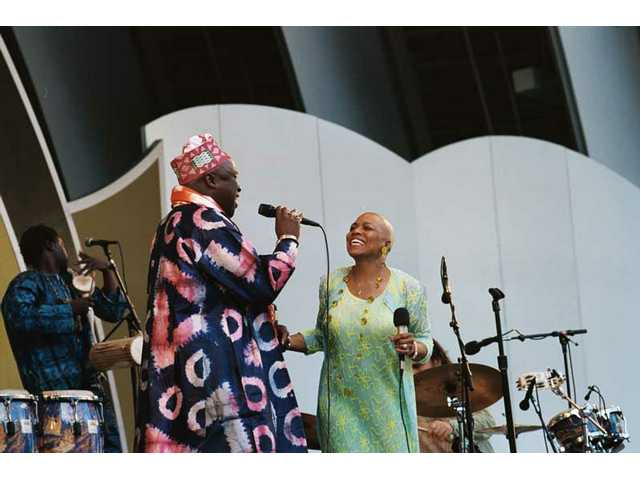 "At the 30th anniversay Playboy Jazz Festival, Dee Dee Bridgewater welcomes African singer Kabine Kouyate to the Hollywood Bowl stage for songs from her latest album, ""Red Earth: A Malian Journey."""