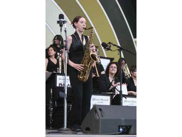 The 15-woman Diva Jazz Orchestra, led by drummer Shari Maricle, bring a hard-charging contemporary approach to big band jazz at the 30th anniversay Playboy Jazz Festival Father's Day weekend at the Hollywood Bowl.