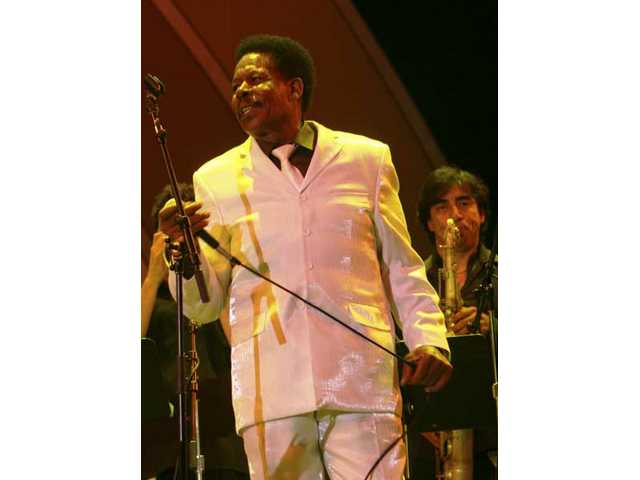 """Stax soul legend Eddie Floyd joins the Pancho Sanchez Latin Jazz Band to singFloyd's classic """"Knock on Wood"""" plus """"Raise Your Hand,"""" the title track fromSanchez' latest album. Floyd guests on both tracks."""
