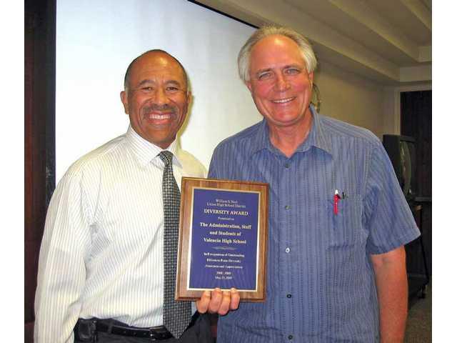 Principal receives diversity award