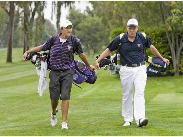 Valencia's Max Homa, left, and West Ranch's J.J. Holen, right, were close all season long. Both elite talents, Homa and Holen are now the 2009 All-Santa Clarita Valley Golfers of the Year.