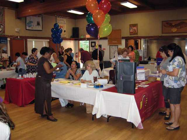 The vendor tables were busy last Saturday at the Caregiver's Resource Day  symposium at the SCV Senior Center.
