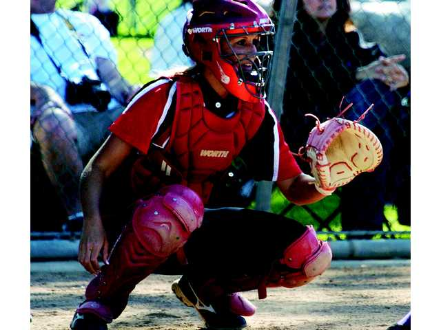 Hart catcher Jessica Shults hit 10 home runs for a team that finished tied for first in the Foothill League.